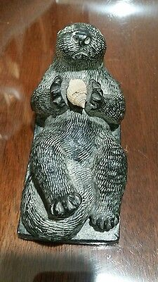 The Wolf Sculptures Beaver Soapstone Figurine  A Wolf Original Made in Canada