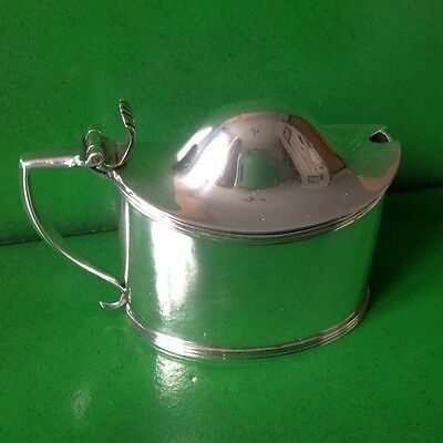 Peter William Bateman 1808 Georgian Antique English Sterling Silver Mustard Pot