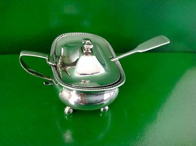 Thomas Johnson 1809 Georgian Antique English Sterling Silver Mustard Pot