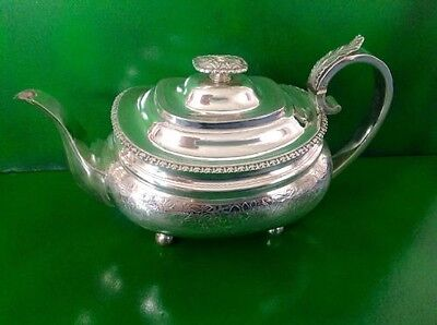 Georgian Antique English Sterling Silver Teapot Royes Dix 1819