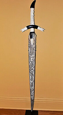 Hand Carved Swordfish Bill with Bone Inlay and Horn Handle, One of a Kind Sword
