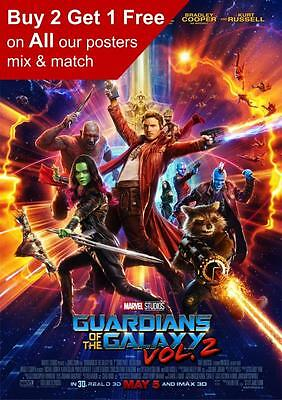 Guardians Of The Galaxy Vol 2 Movie Poster  A5 A4 A3 A2 A1