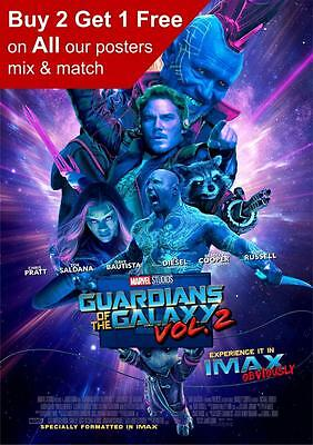 Guardians Of The Galaxy Vol 2 Imax Movie Poster  A5 A4 A3 A2 A1
