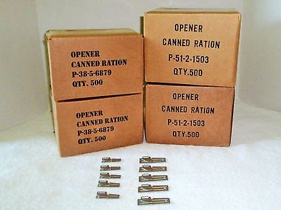 (5) P-38 & (5) P-51 Can Openers US Military Issue Authentic WW2 Vietnam War Era