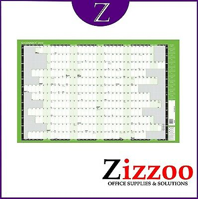 Fiscal Year Planner 2017-2018 - Unmounted - Large - Ideal For Office Wall