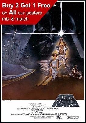Star Wars 1977 Vintage Movie Poster  A5 A4 A3 A2 A1