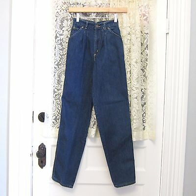 Vintage Jeans Young Junior Teen Youth 22 In Waist Chic High Waist Taper Leg 80s