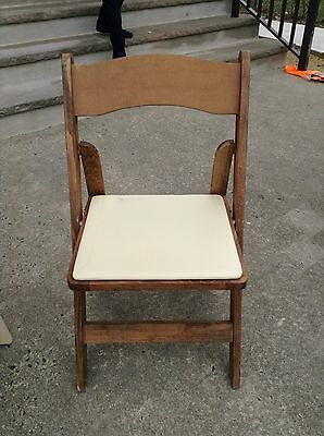 10 Used Wood Folding Chairs Party Rental Chair CAN SHIP. Bulk discounts