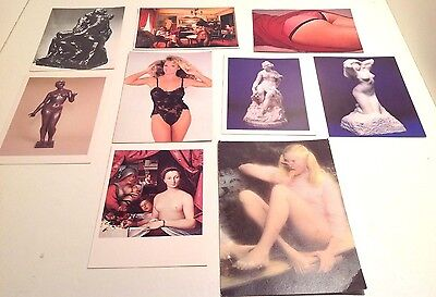 Vintage Lot Pinups Women Girl Art Erotic Risque Pictures & Postcards