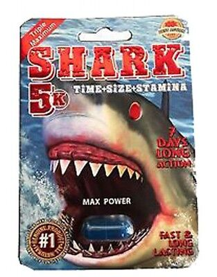 SHARK 5K Male Sexual Enhancement Pills 4 Packs. 100% Authentic!