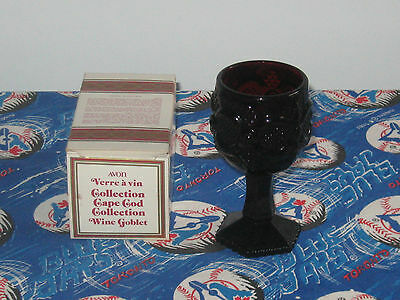 Avon Ruby Red Cape Cod Wine Goblets