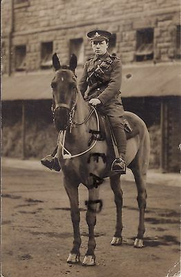 WW1 soldier Driver Royal Artillery mounted on his horse