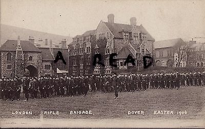 soldier group London Rifle Brigade 5th London Regiment Dover 1906 on Parade