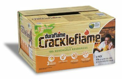 Duraflame 4637 6-Pack Crackleflame Firelogs, 4-Pound