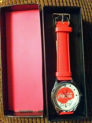 Avon Coca Cola Bear Watch New Red