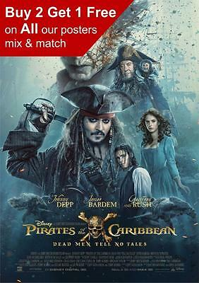 Pirates Of The Caribbean Dead Man Tell No Tales Movie Poster  A5 A4 A3 A2 A1