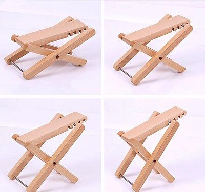 Foldable Adjustable Wooden Guitar Footstool Pedal For Acoustic Electric Players