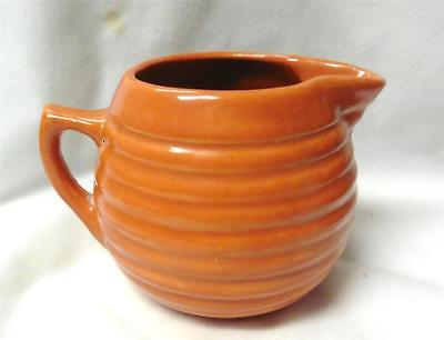 Early/vintage Bauer Pottery Orange Ring Creamer