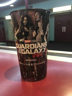 Guardians Of The Galaxy Vol. 2 44oz Hard Plastic Movie Theater Cup Brand New