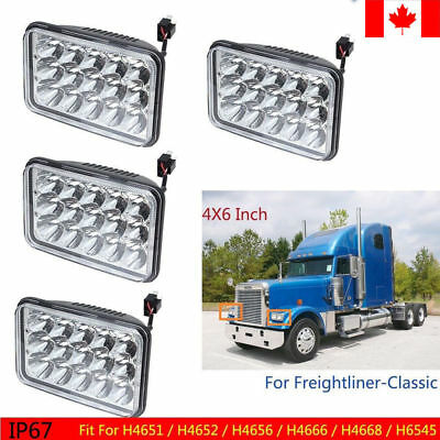 "4P/SET 45W 4x6"" Led Headlight  Sealed Beam For Freightliner Classic FLD 112 120"