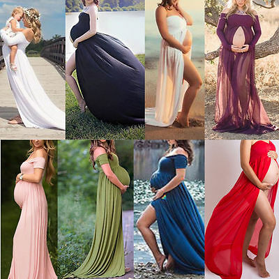 Chiffon Gown Maternity Dress Wedding Dress Photography Pregnant Women Clothes