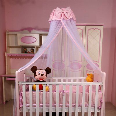 Baby Mosquito Net Round Lace Curtain Hanging Dome Bed Canopy Netting Mesh Tent