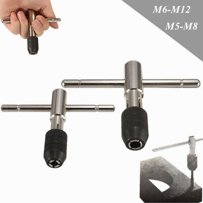 M5-M12 T-Handle Tap Wrench Chuck Type Capacity Adjustable Hand Tool New