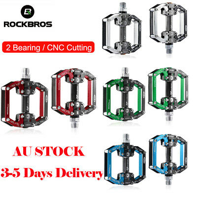 "ROCKBROS MTB Bike Bicycle Pedals Flat/Platform Sealed Bearing Pedals 9/16"" Pair"