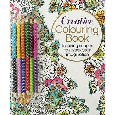 Creative Colouring Book With Pencils (Paperback), Children's Books, Brand New