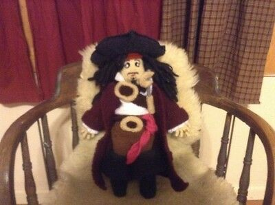 Hand knitted Pirate, Doll, Toy, Plush, one of a kind.