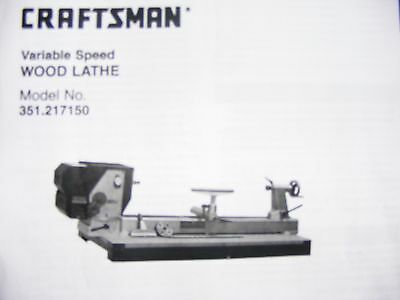 wood lathe parts, Craftsman model 351.217150 belts, transmission & cooling parts