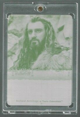 The Hobbit: The Desolation of Smaug  Black Printing Plate 1/1 Thorin Oakenshield