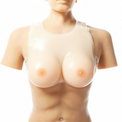 Artificial Silicone Breast Forms Fake Boobs Chest Male Transgender Costume Wear