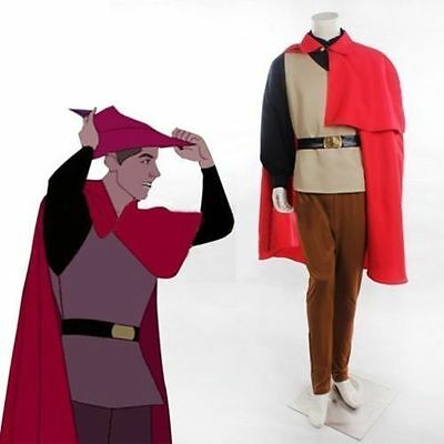 Halloween Sleeping Beauty Prince Phillip Costume Outfit Adult Men size