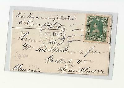 1913 MEXICO letter from PUEBLA to GERMANY-centavos 2-g873