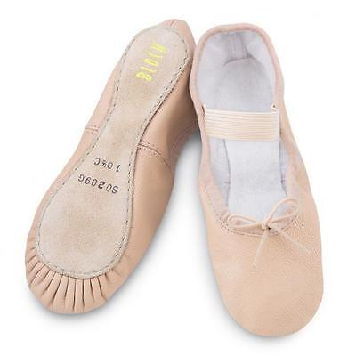 Bloch Arise Girls Leather Full Sole Ballet Shoes Pink, Black, White (C Fitting)