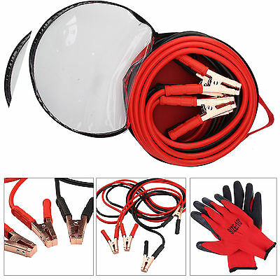 Heavy Duty 800Amp Car Van Jump Leads 6 Metre Booster Cables Start New & Gloves