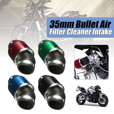 35mm Bullet Air Filter Cleaner Intake 50cc Motorcycle Scooter Dirt Pit bike ATV