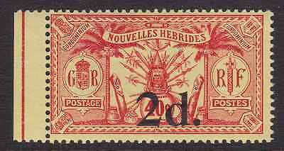NEW HEBRIDES (Br) - 1920 - 2d. on 40c. Red/yellow. Without watermark. Mint NH