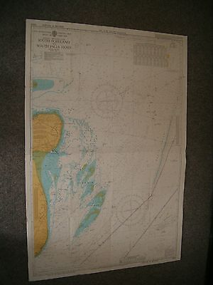 Vintage Admiralty Chart 5043 PRACTICE CHARTS USED BY RYA 1981 edn