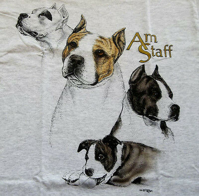 "American Staffordshire Terrier T-shirt  "" Ash "" Medium ( 38 ~ 40 )"
