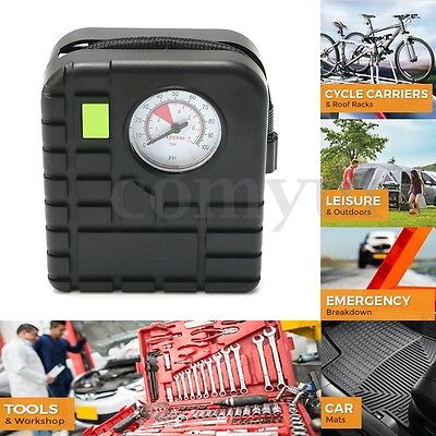 12V 60W 100PSI Portable Car Bicycle Air Compressor Electric Pump Tyre Inflator