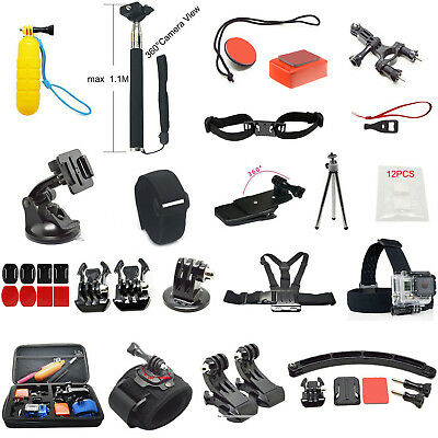 All-in-1 Accessories Kits Bundle Case Chest Head Strap GoPro Hero+LCD 5 4S 4 3+3