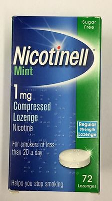 NICOTINELL Mint 1mg / 2mg Compressed Lozenges X 72 ( Choose Strength )