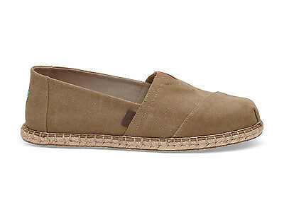 TOMS Mens Blanket Stitch Classics Toffee Wash Canvas Espadrilles Various Sizes
