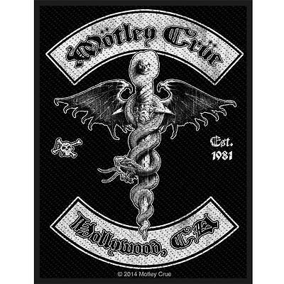 Official Licensed - Motley Crue - Hollywood Sew On Patch Rock Metal