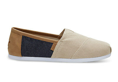 TOMS Mens Classics Natural Hemp Navy Denim Espadrilles Size UK 7 EU 40 US 8
