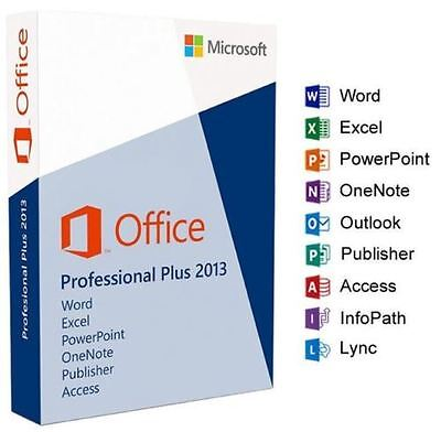 Microsoft Office 2013 Professional Pro Plus 32 / 64 bit License Key Scrap PC