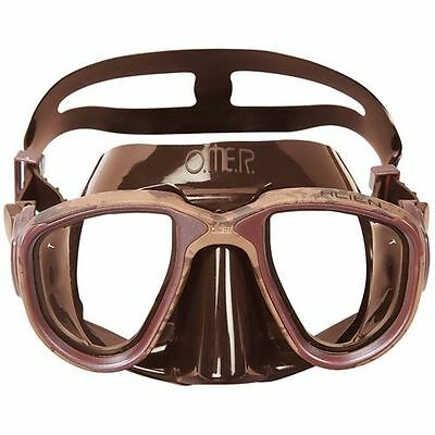 ~ ~ ~ OMER Mask Scuba Dive, Freediving and Spearfishing Mask Brown Mimetic
