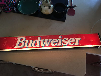 Budweiser Sign Bar Light (long and narrow) with holes to hang up on wall